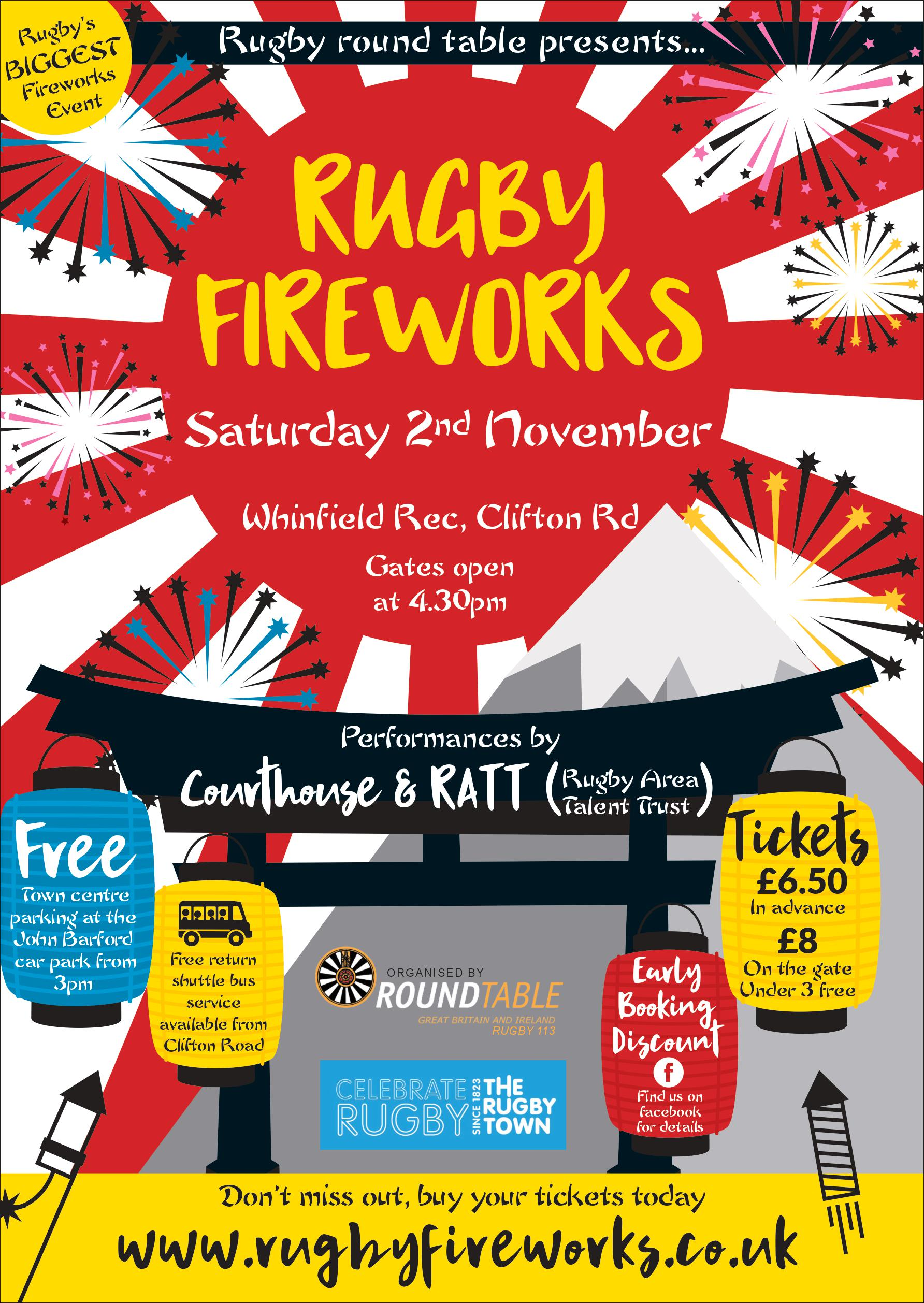 Rugby Fireworks 2019