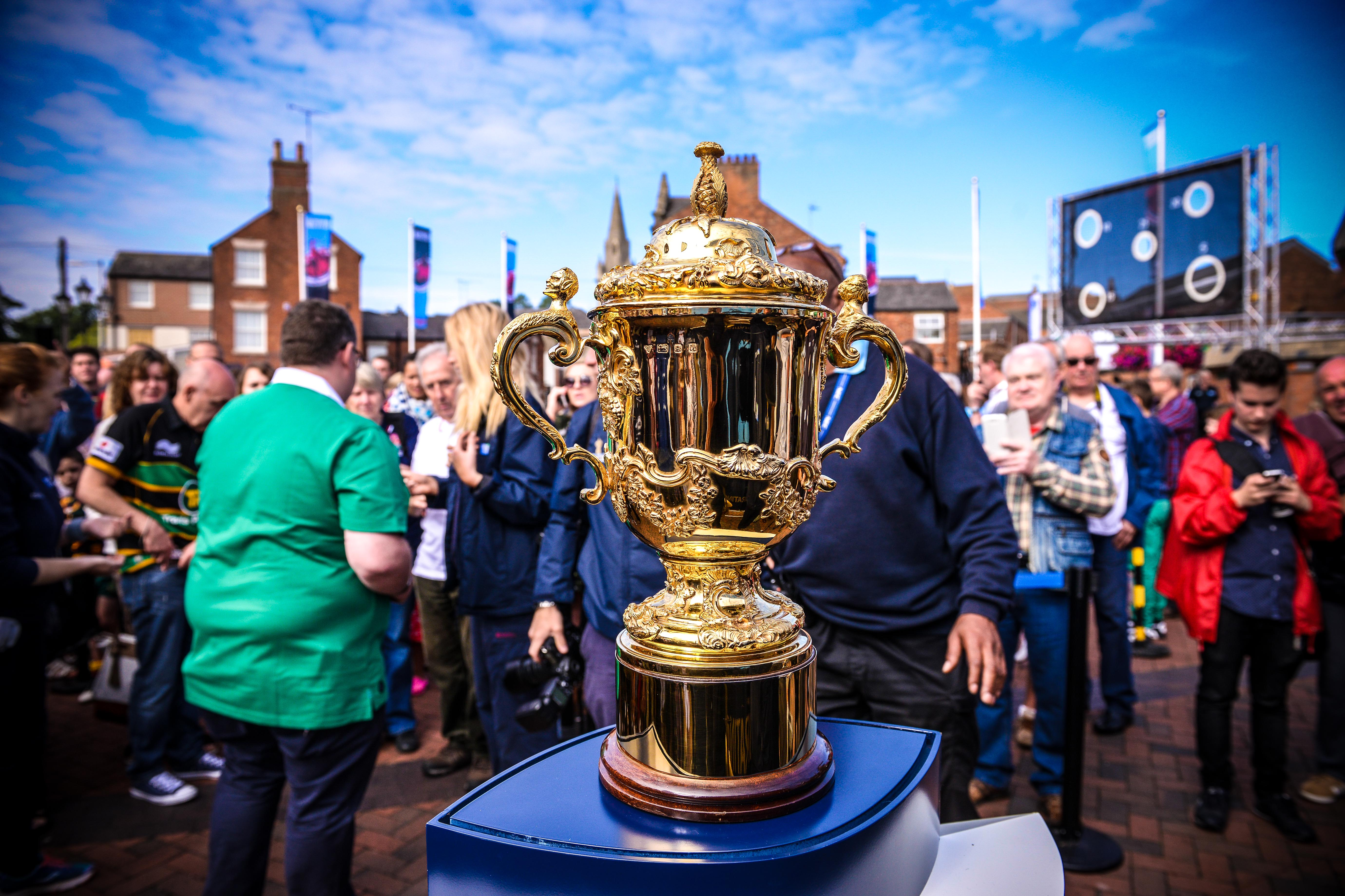 The Webb Ellis Cup was last in the Rugby town during Rugby World Cup 2015.