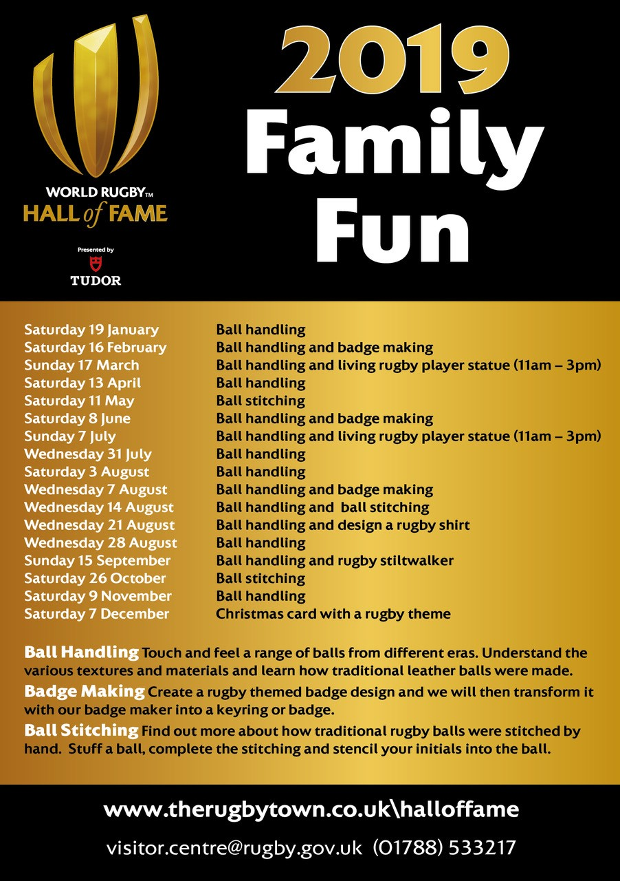 Family activity in World Rugby Hall of Fame