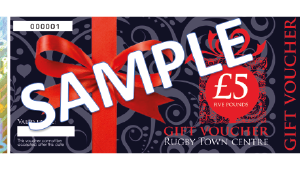 Sample shopping voucher 5 pounds
